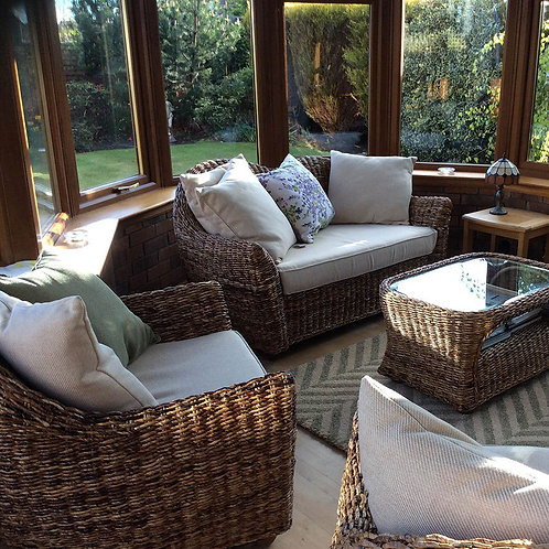 Cane Conservatory Furniture 4 Piece Suite