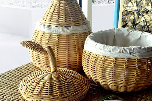 Rattan Basket 3 Piece Set