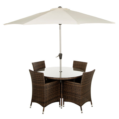 Four Seater Round Dining Set