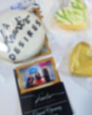 Wedding gold heart Cookies and photo boo