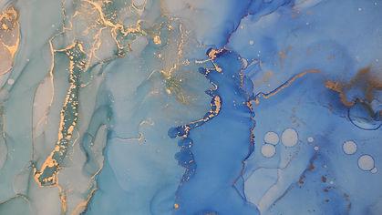 Ink Wash Pastel. Violet and Magenta Drops. Ocean Waves Elements. Contrast Ink print. Paint