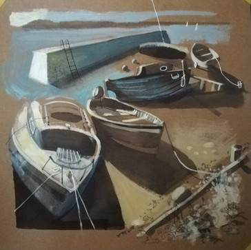 The Waiting Boats, (SOLD)