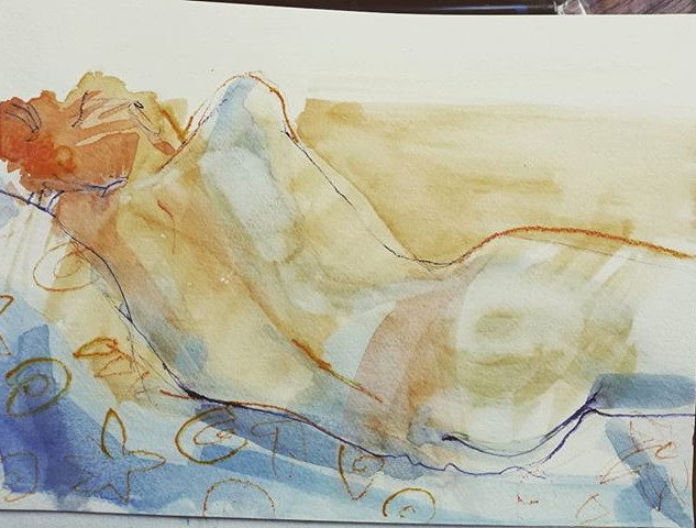 #watercolour #lifepainting #lifedrawing