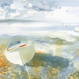White Boat on Pebbles.jpg
