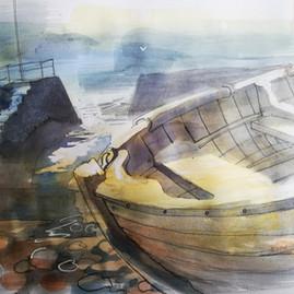 Clinker Boat in Morning Light