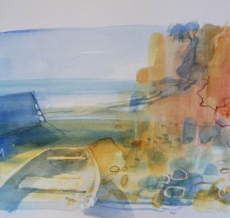 The Boat Shelter #watercolour #lympstone