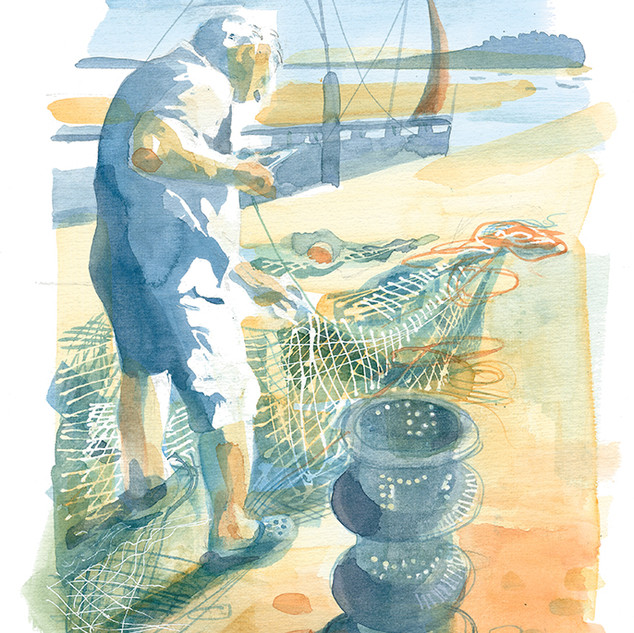 Mending Nets, Lympstone Slipway