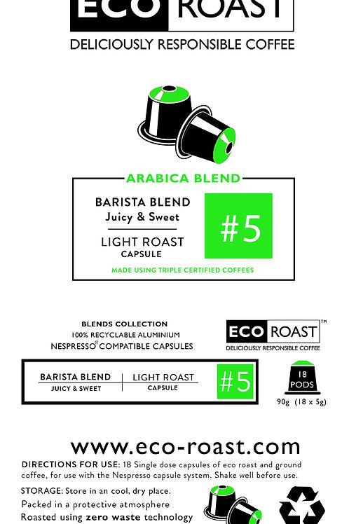 18 Eco Roast Barista Blend #5 Capsules
