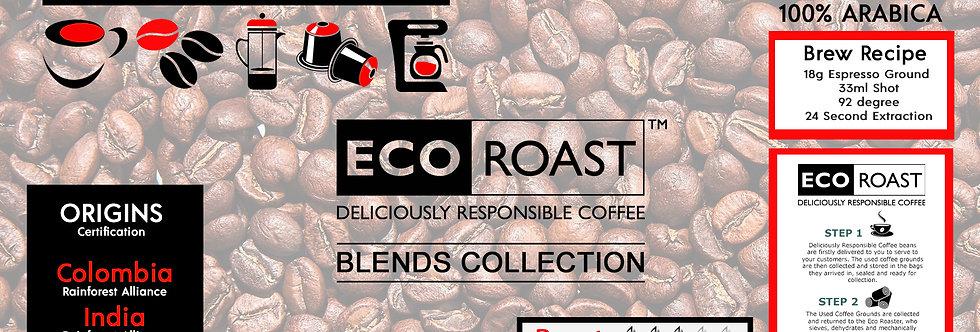 6 x 250g Full Range of Eco Roast Barista Blends Coffees