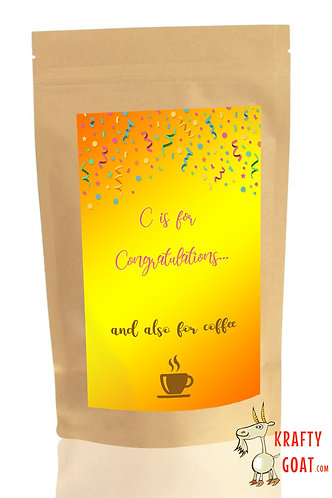 Personalised Tea & Coffee Gifts (Congratulations 1)