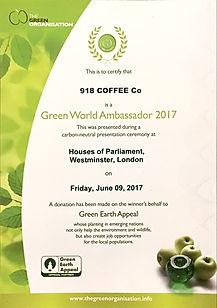 Green World Ambassador Award