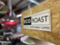 Eco Roast Trademark sign in the roastery