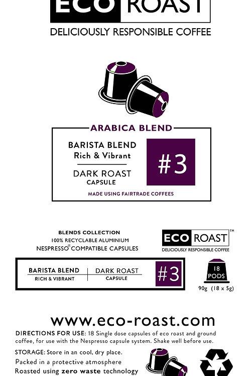 18 Eco Roast Barista Blend #3 Capsules