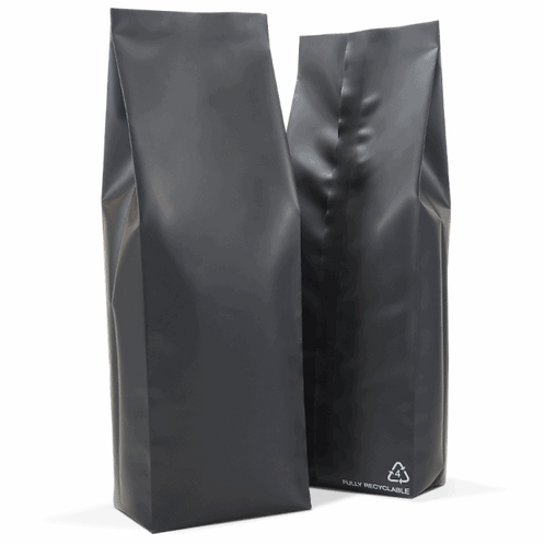 25 x 1kg 100% Recyclable Side Gusset Bag with Valve