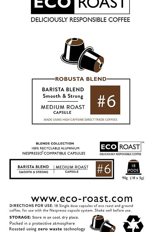 18 Eco Roast Barista Blend #6 Capsules