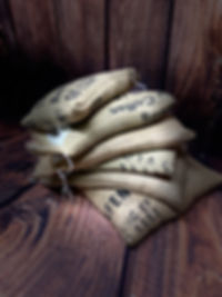Green Beans in Custom Hessian Sacks