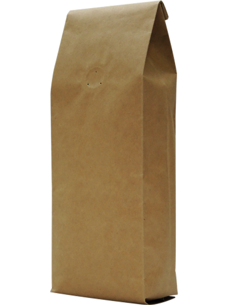 25 500g Natural Kraft Side Gusset Bags with Degassing Valve