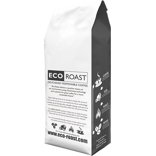 rear view of own label coffee bag