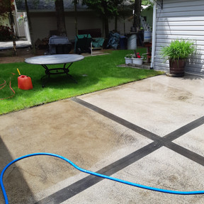 Before and After Power Wash