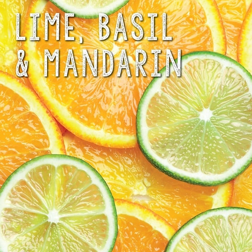 Lime, Basil & Mandarin Soy wax melt 85g