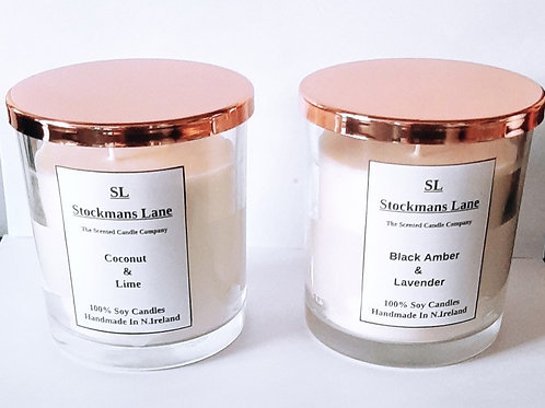 3 Wick Candles with copper lid