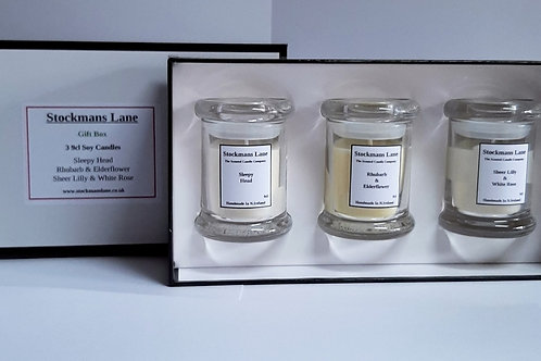 Gift Box with 3 Soy Candles