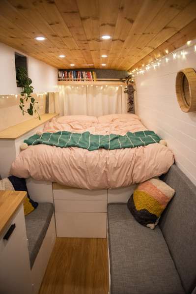 Beautiful Scandi style Sprinter self build camper van conversion