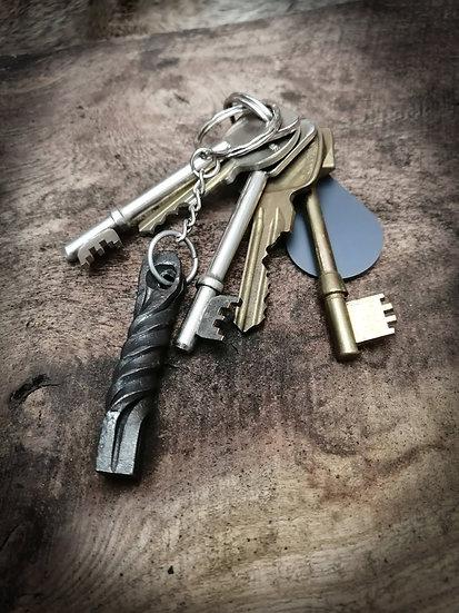 Twist Keyring - Keychain Keyfob Unique Handforged
