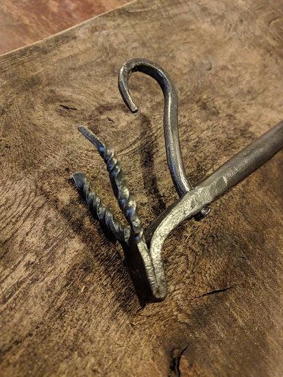 Wild Hunt pot rack - Hand forged rustic kitchen storage