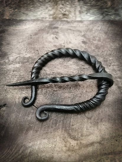 Penannular - Viking Norse Celtic Pict Saxon handforged medieval brooch cloak pin