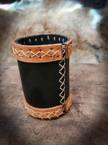 Leather Dice Cup - Hand Stitched Dice Roller