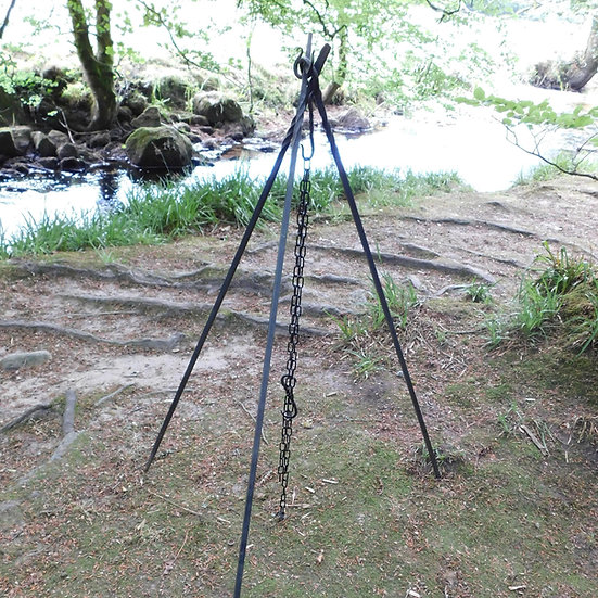Cooking Tripod - Hand forged camp fire reenactment larp outdoor grill bbq