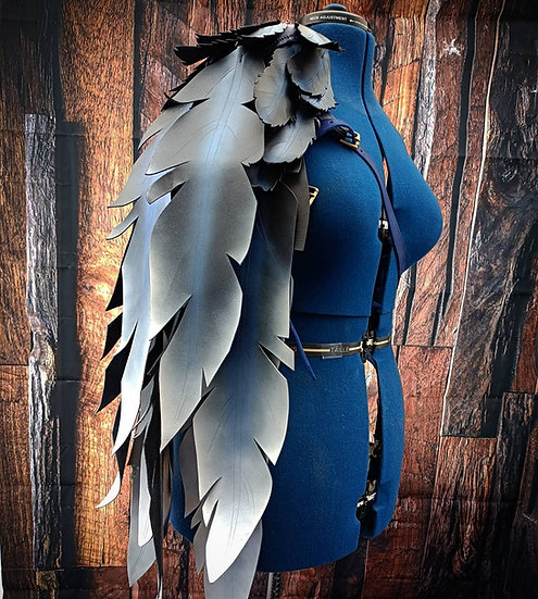 Leather Feather Pauldron