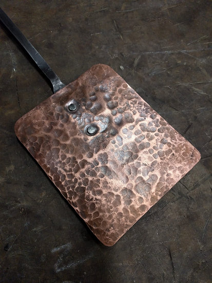 Handforged copper and steel spatula - grill bbq