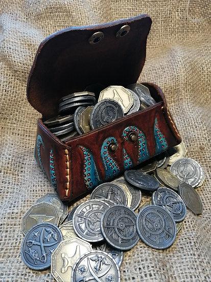 Leather dice chest - Kraken/pirate treasure chest