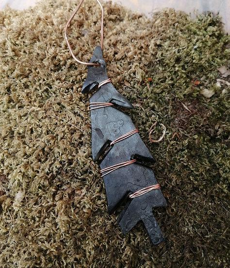Rustic Nordmann Fir Christmas Tree Decorations - Handforged iron
