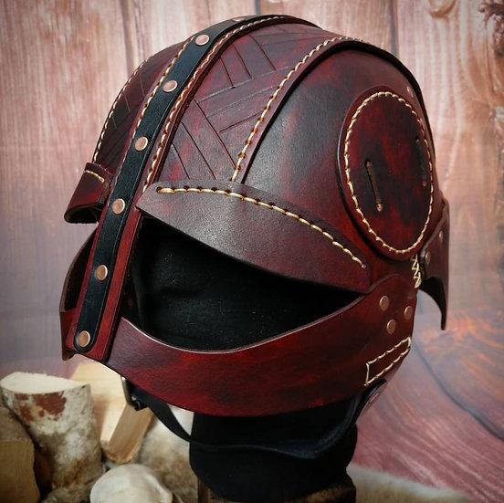 Celtic Spangenhelm - leather helmet