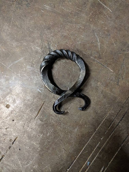 Norse Troll Cross - hand forge iron norse charm