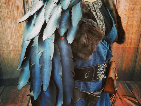 Kallavesi Grimnir Feather Pauldron | Empire LARP Armour