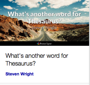 """What's another word for Thesaurus?"" – Steven Wright"