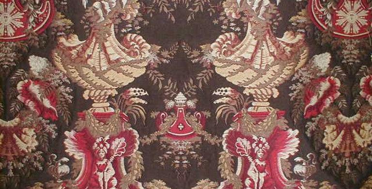 Chinoiserie Royal Medallion Fabric - Asian