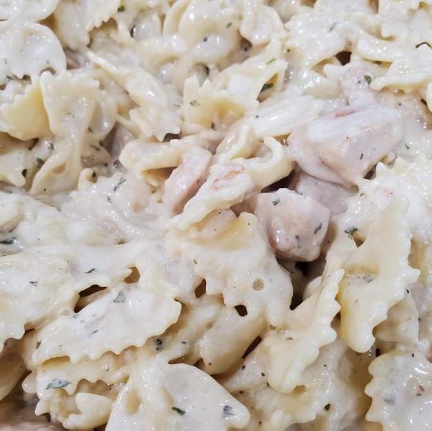 Chicken Bowtie Alfredo