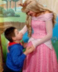 Angel con princesa disney calendario 202