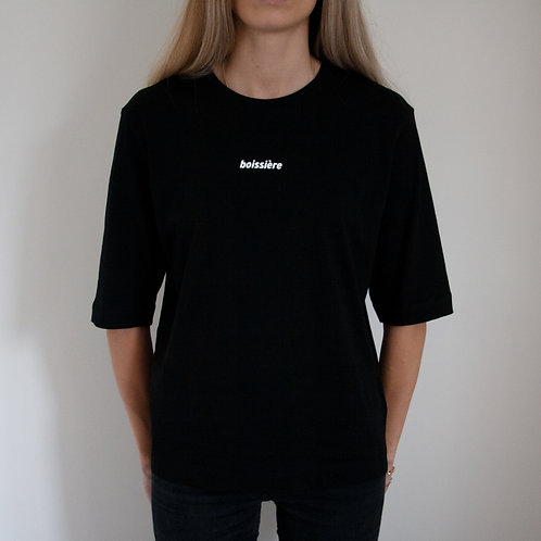 3/4 Sleeved T-Shirt in Black
