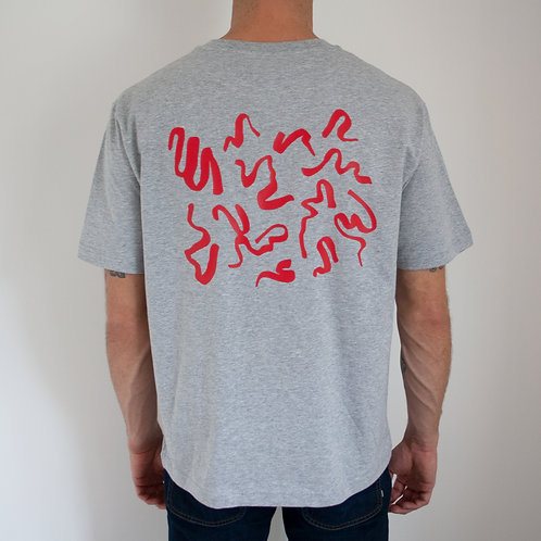 Red Scribble Print