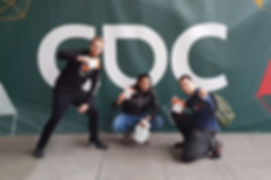 Photo of Nawaf at GDC 2018 with some friends