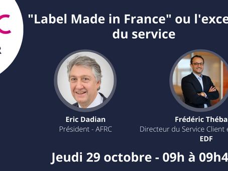 """Webinaire """"Label Made in France"""" ou l'excellence de service le 29 octobre"""