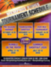 Memphis Kings_Tournament Schedule  2019-