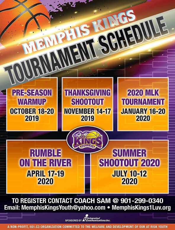 Memphis Kings_Tournament Schedule  2019-