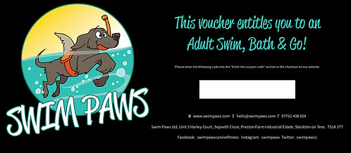 Gift Voucher - Adult Swim, Bath & Go